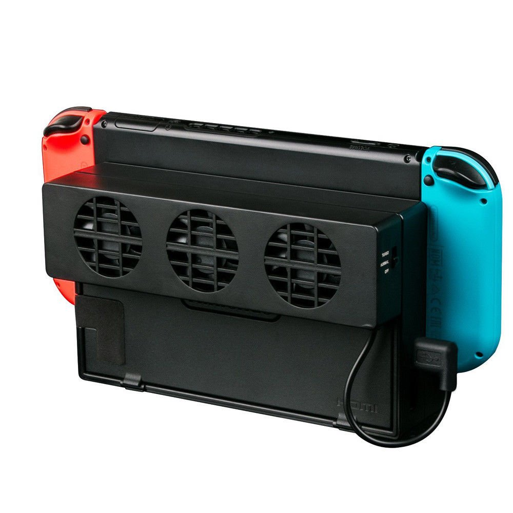 Nintendo Switch Dock USB powered Cooler, 3 cooling fans 3000 RPM